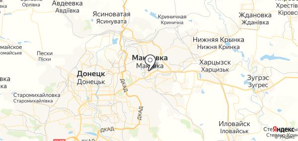 Макеевка на карте