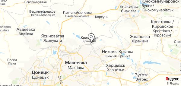 Криничная на карте