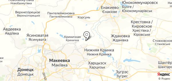 Ханжёнково-Северный на карте