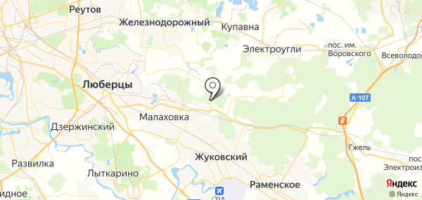Лесные Поляны на карте