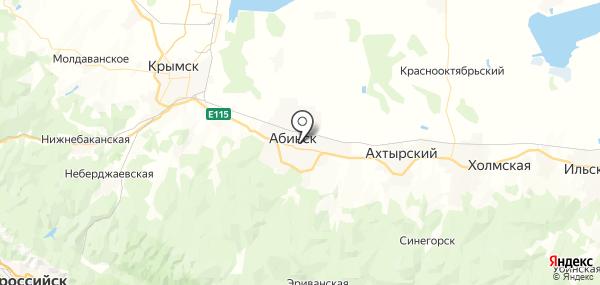 Абинск на карте