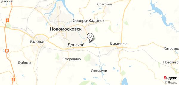 Дубовое на карте