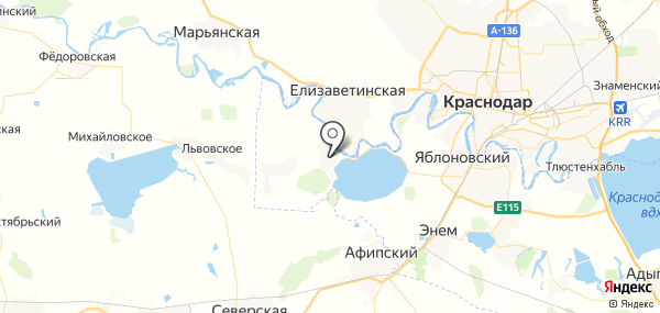 Афипсип на карте