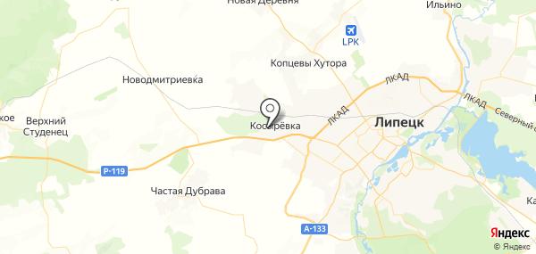 Косыревка на карте