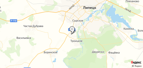 Ленино на карте