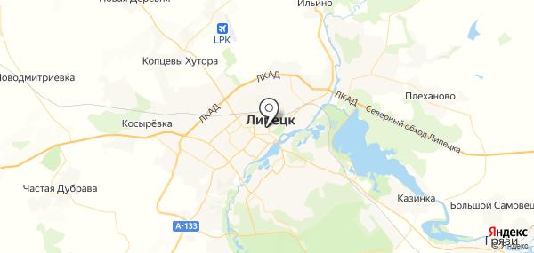 Липецк на карте