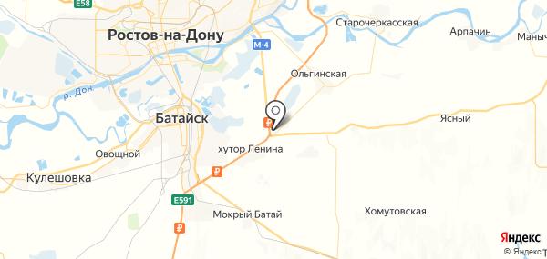 Дорожный на карте