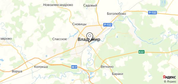 Владимир на карте