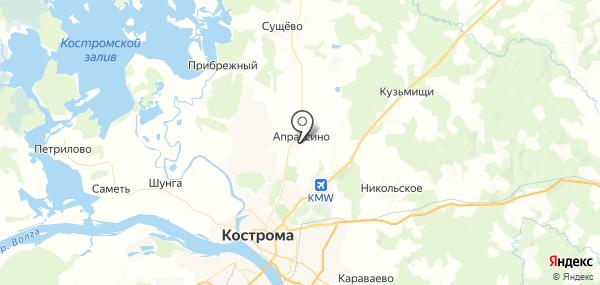 Апраксино на карте