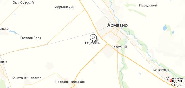 Глубокий на карте
