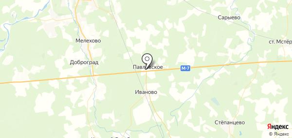 Павловское на карте
