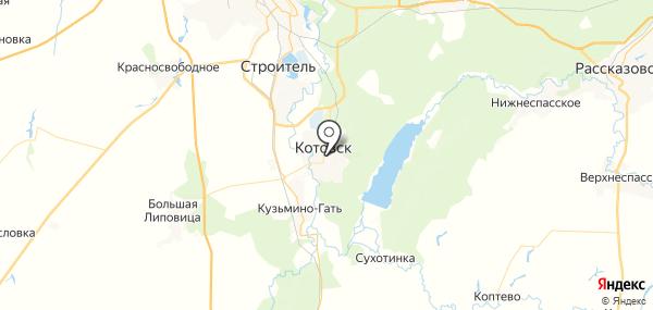 Котовск на карте