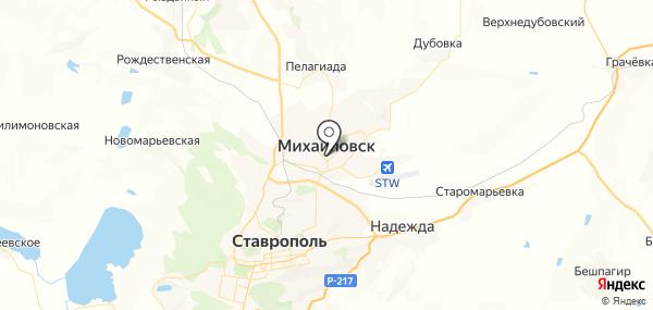 Михайловск на карте