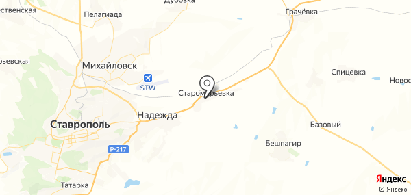 Старомарьевка на карте