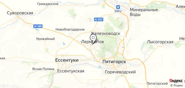 Лермонтов на карте
