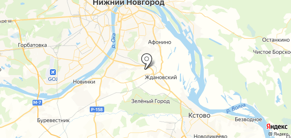 Федяково на карте