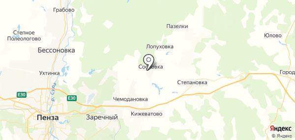 Васильевка на карте
