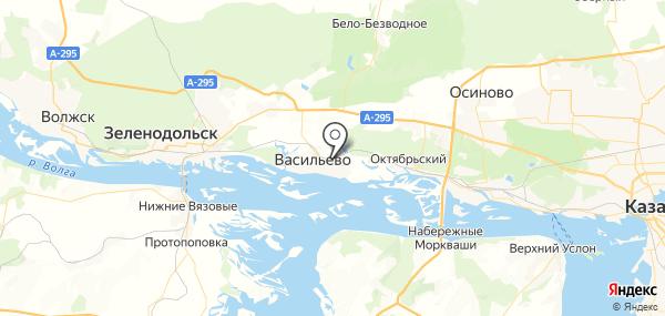 Васильево на карте