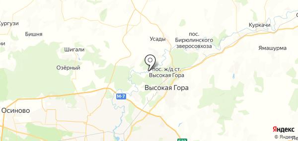 Дачное на карте