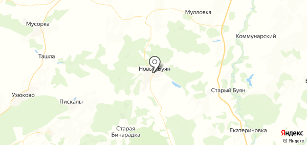 Новый Буян на карте