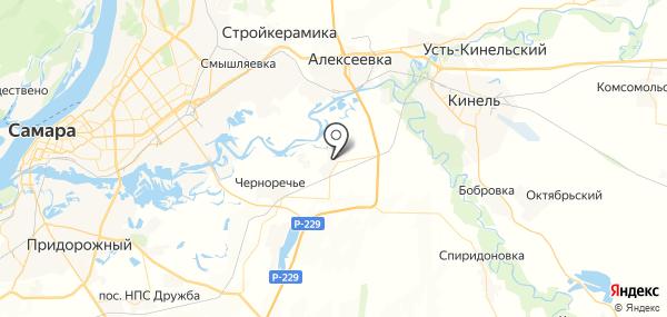 Черновский на карте