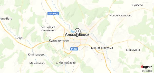 Альметьевск на карте