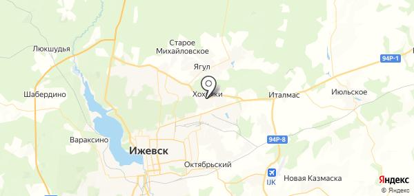 Хохряки на карте