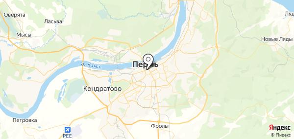 Пермь на карте
