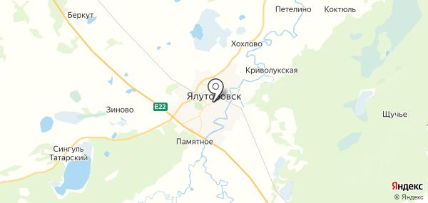Ялуторовск на карте