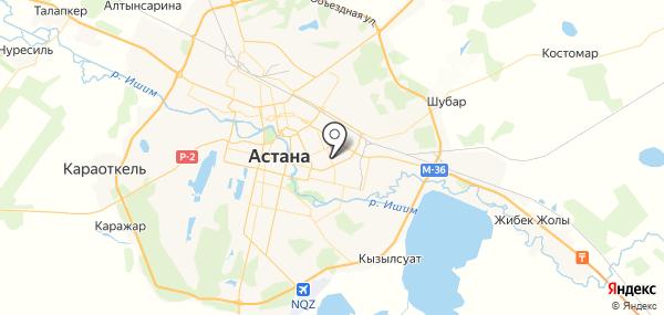 Уштобе на карте
