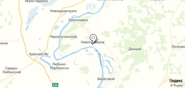 Новотроицкое на карте