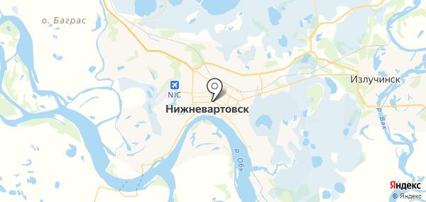 Нижневартовск на карте