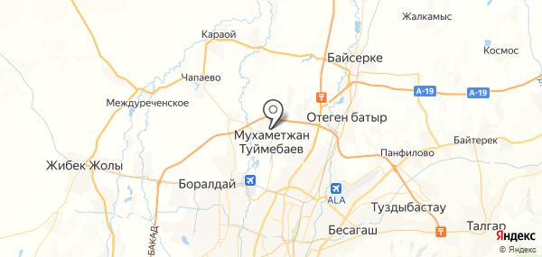 Туймебаева на карте