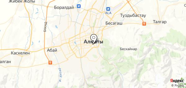 Алматы на карте