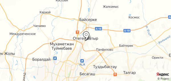Отеген Батыра на карте