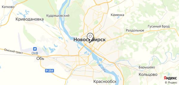 Новосибирск на карте
