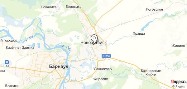 Новоалтайск на карте