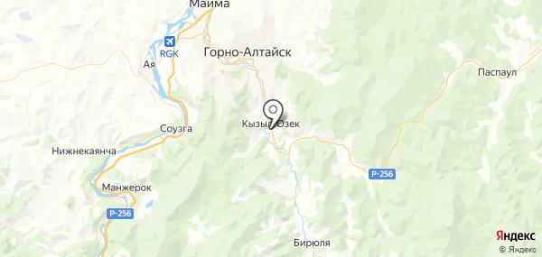 Кызыл-Озек на карте