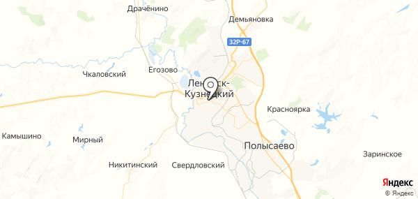 Ленинск-Кузнецкий на карте