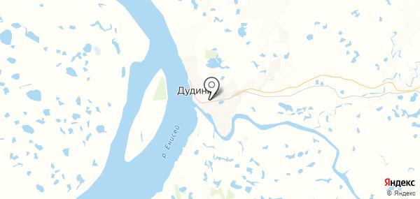 Дудинка на карте