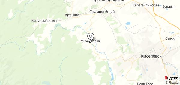 Михайловка на карте