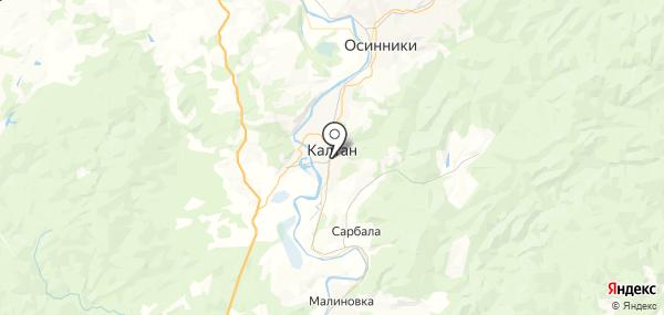 Калтан на карте