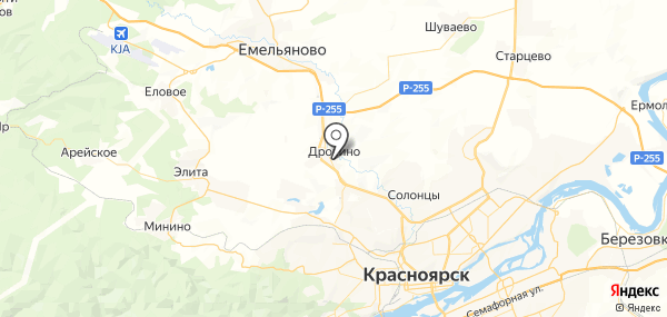 Дрокино на карте