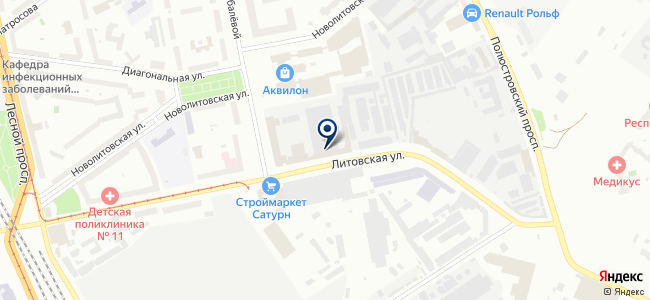 DLED на карте