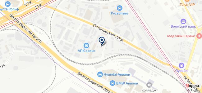 Лайтнинг, ЗАО на карте