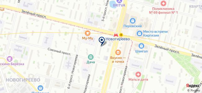 Аксиос, ЗАО на карте