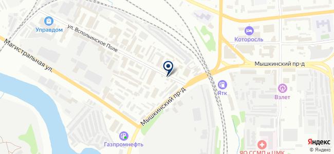 Ярпрокат на карте