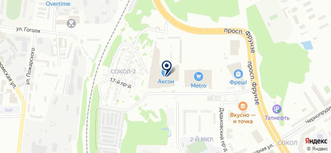 Аксон на карте