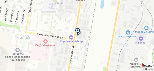 Ижевсксельхозналадка, ОАО на карте