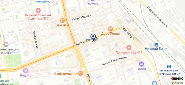 Интеп-Урал, торговая компания на карте